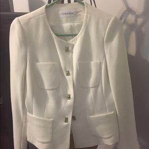 Off white Calvin Klein Suit
